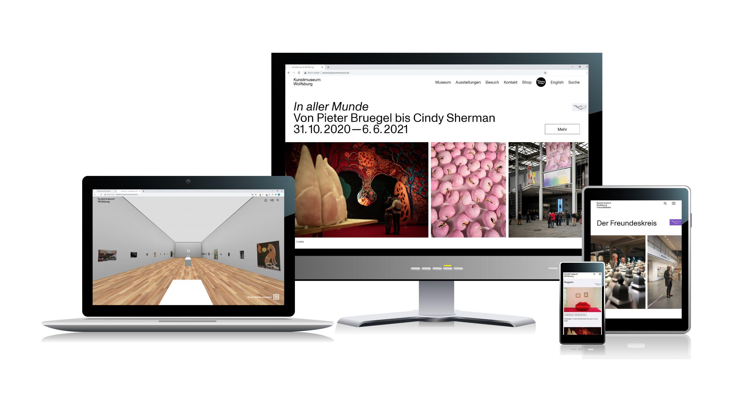 Die neue Website ist responsive. Mockup: MSCG